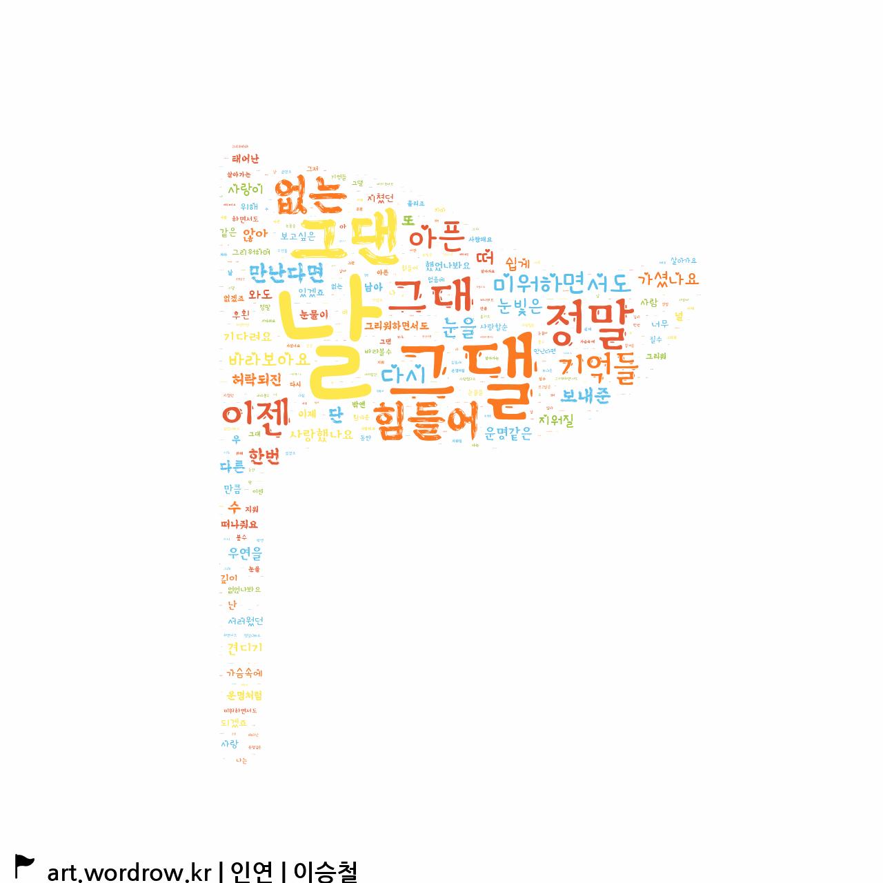 워드 아트: 인연 [이승철]-5